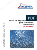 Hidroizolatie in Masa Betonului Betocrete CL 170 P