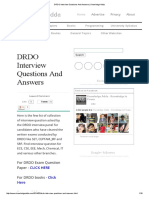 DRDO Interview Questions and Answers _ Knowledge Adda