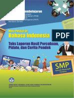 Paket Unit Pembelajaran 5 Bahasa Indonesia Teks Laporan Hasil Percobaan, Pidato, Dan Cerita Pendek Final Ttd