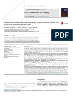 Identification of the High Risk Emergency Surgical Patient Which Risk Prediction Model Should Be Used