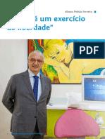 """Entrevista """"A arte é um exercício de liberdade"""". Afonso Pinhão Ferreira na revista DentalPro 140 - Agosto 2019"""
