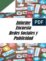 Informe Encuesta Redes Sociales y Publicidad