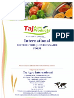 Questioner Form AGRO COMPANY
