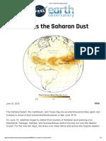 Here comes the sahara dust