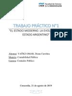 La Evolución Del Estado Moderno. El estado argentino