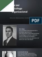 Rol Del Psicologo Organizacional y Diagnostico Organizacional