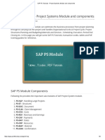 SAP PS Tutorials – Project Systems Module and Components