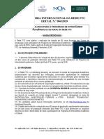 EDITAL 004-2019 - INTERCÃ_MBIO ACADÃ_MICO E CULTURAL