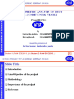 Psychometric Analysis of Duct Air Conditioning