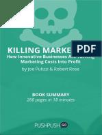 Book Summary Joe Pulizzi and Robert Rose Killing Marketing