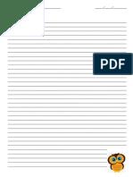 folha fichário caderno