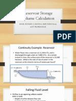 3.1Reservoir Storage Volume Calculation