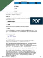 Decreto 759-18 Contribuciones Patronales - Alcaraciones Ley 27430