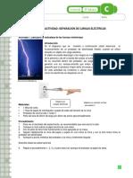 Actividad - Separación de Cargas Eléctricas