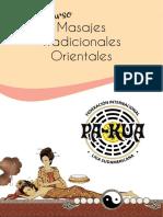 Curso de Masajes Tradicionales Orientales