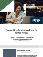 contabilidade e indicadores de rentabilidade