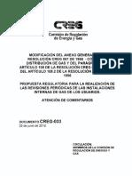 D-033-12 Revisiones Periodicas de Gas