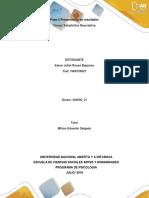 Paso 5 – Presentación Resultados estadistica