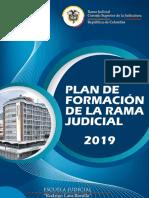 Plan de Formación Rama Judicial 2019