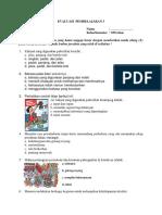 Evaluasi Pembelajaran 3 Sub Tema 2 Kls 5
