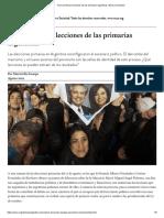 Cinco Primeras Lecciones de Las Primarias Argentinas _ Nueva Sociedad