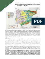 Comentario Mapa Unidades Morfoestructurales de La Península Ibérica