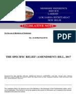 Specific Relief Amendment Bill 2017