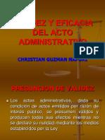 05 Validez y Eficacia de Los Actos Administrativos