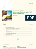 Informe_OneTree-Preferencias Turísticas Europeas 2018