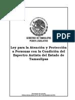 Ley Personas Condicion Autista Edo Tamaulipas