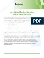 Westcon-Comstor Top 10 Cloud Backup Questions to Ask Your Customers