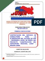 Bases de Concurso Publico para elaborar estudio Aerodromo del Gobierno Regional de Junin