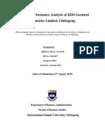 Financial Performance Analysis of KDS Garment Industries Ltd. (Abdullah Al Nayem)