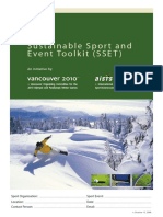 Sustainable Sport and Event Toolkit