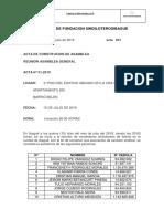 Acta de Fundación de un sindicato de oficios varios