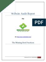 WEB Audit Reprt