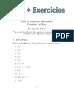 Lista de Exercícios - Frações