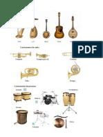 5 Instrumentos de Cuerda, Viento Percusion