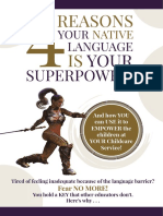 4 Reasons Your Native Language is Your Superpower - Workshop