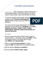 Assigning Output Type WMTA to Inbound Deliveries