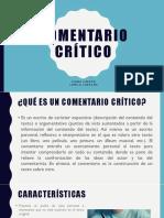 COMENTARIO CRÍTICO.pptx
