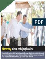 22-08-19 Monterrey. Inician trabajos pluviales