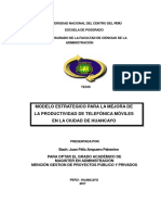 Tesis Modelo Estratégico Para La Mejora de La Productividad de Telefónica Móviles en La Ciudad de Huancayo.