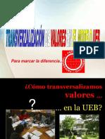 TRANSVERSALIZACIÓN DE VALORES EN EL MODELO UEB.ppt