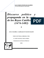 Discurso Político Monarquía Española