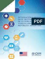 Integración Laboral en El Sector Salud de La Población Venezolana en La República Argentina