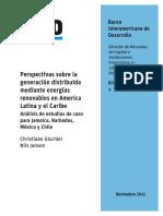 Perspectivas Sobre La Generación Distribuida Mediante Energías Renovables en América Latina y El Caribe Análisis de Estudios de Caso Para Jamaica Barbados México y Chile