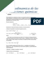 LAB 9 Termodinamica de Las Reacciones Quimicas