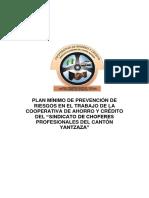 PLAN MÍNIMO DE PREVENCIÓN DE RIESGOS EN EL TRABAJO DE LA COOPERATIVA DE AHORRO Y CRÉDITO DEL.docx