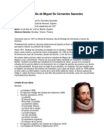 Biografía de Miguel de Cervantes Saavedra y William Shakespeare